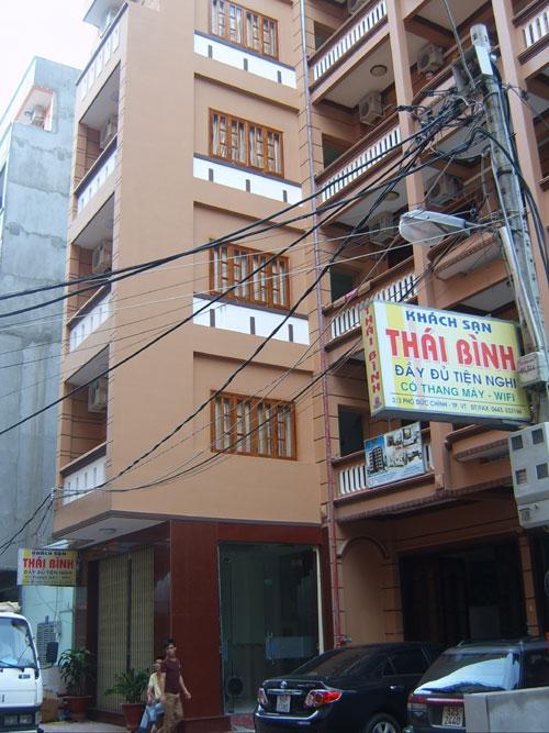 Mặt tiền Khách Sạn Thái Bình